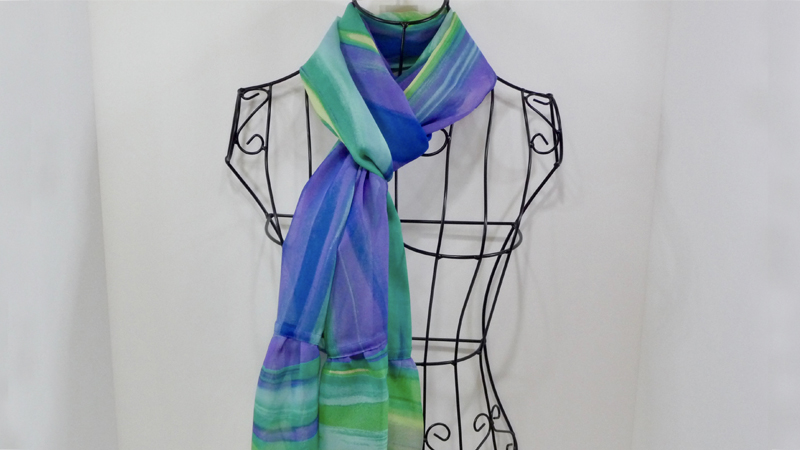 Foot of the Month: Sheer Scarf with Gathered Ruffles