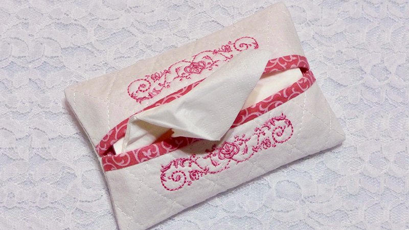 Free Design of the Month: Embroidered Tissue Tote