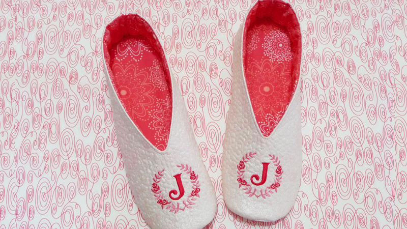 Free Design of the Month: Monogrammed Slippers