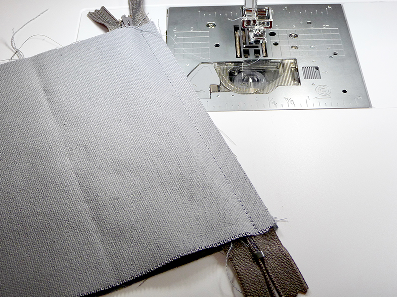 sew materials down