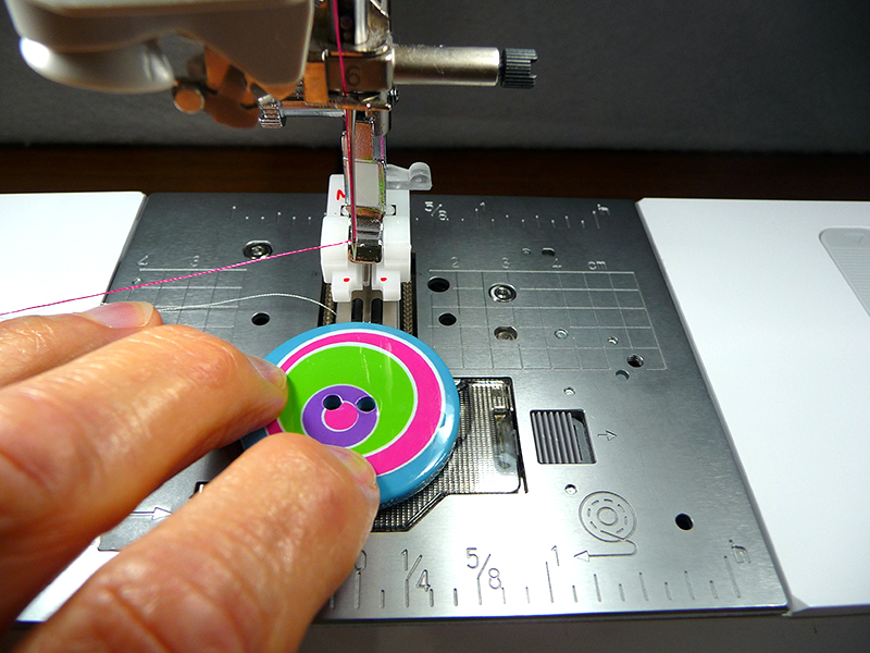 Sew button