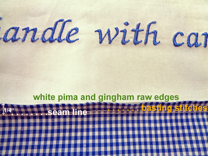 Attach Gingham Fabric