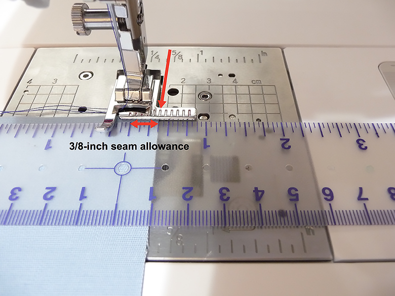 Measure 3/8 inch from needle