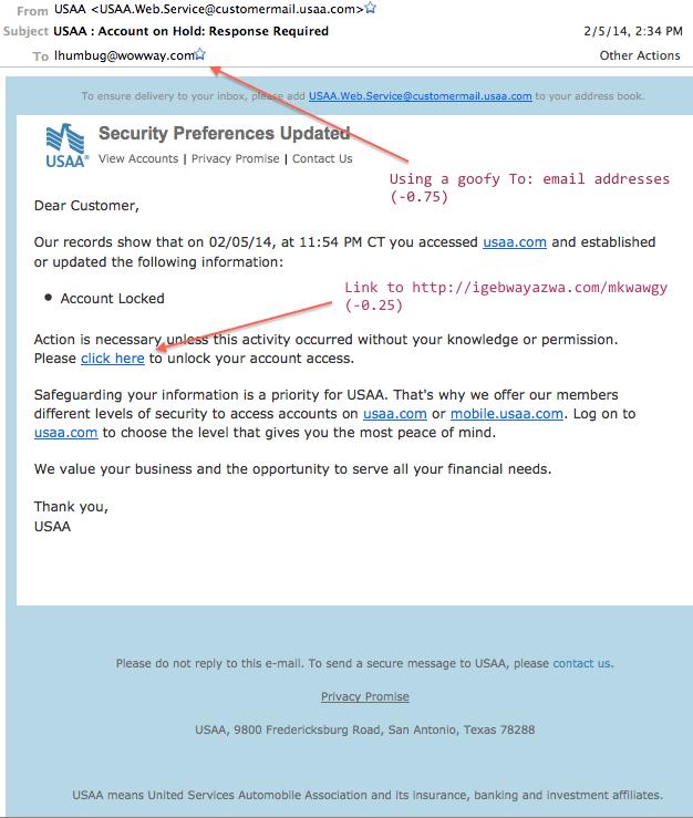 Edited phishy email