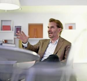 Erik Brynjolfsson, Amerikanischer Wirtschaftswissenschaftler, fotografiert im Hotel Steigenberger. 23.01.2015 (Tages-Anzeiger/Urs Jaudas)