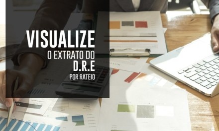 VISUALIZE O EXTRATO DO D.R.E POR RATEIO