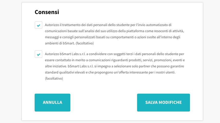 Consensi privacy su bSmart