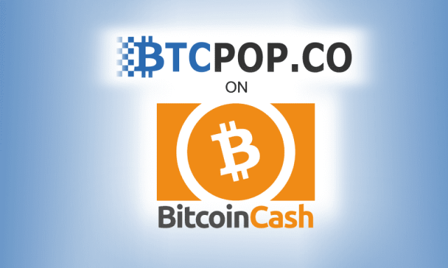 BCH Harrdfork November 2018 feature image. Bitcoin Cash logo and Btcpop.co logo.