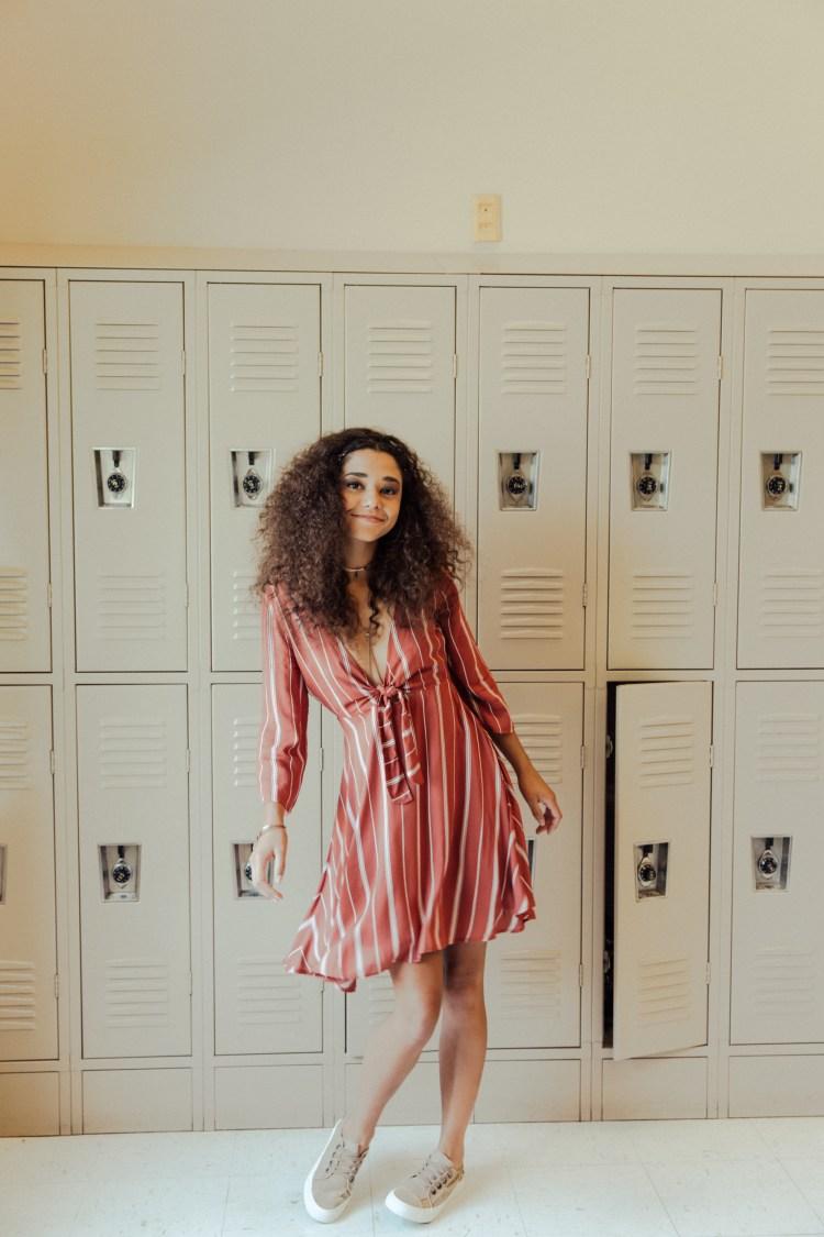 70s Styles | Amuse Dress in Muted Auburn