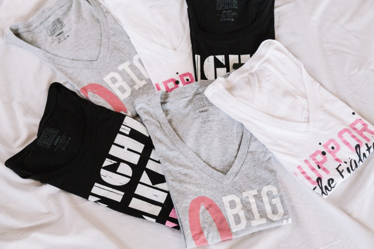 Women's Breast Cancer Tees at Buckle - $1.50 from each t-shirt purchased will be contributed to the American Cancer Society®.