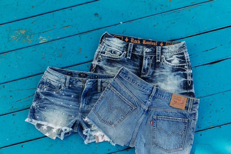 Buckle Denim Shorts for Memorial Day Weekend