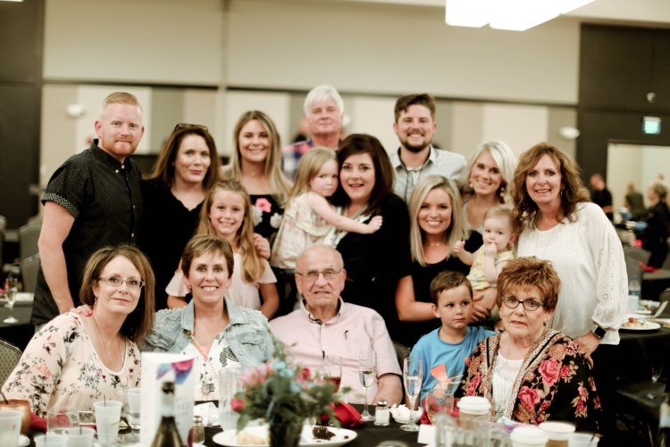 Kari Smith with her family at Buckle's Years of Service Recognition Event.