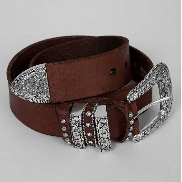 Women's Nocona Brown Leather Western Belt