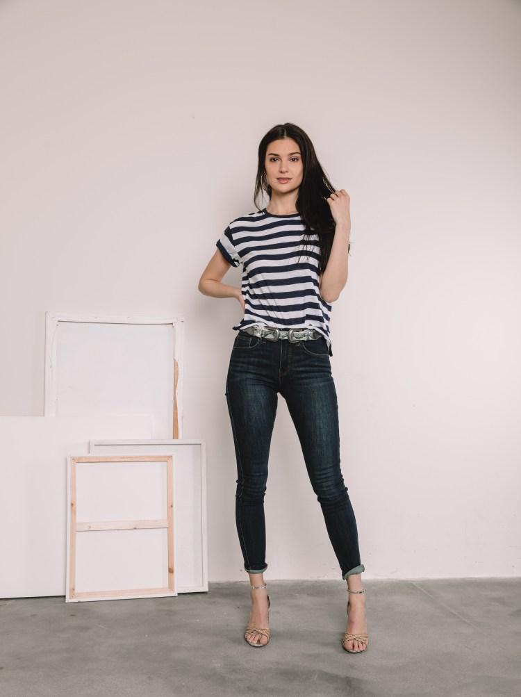 Women's BKE Stella High Rise Ankle Skinny Stretch Jean