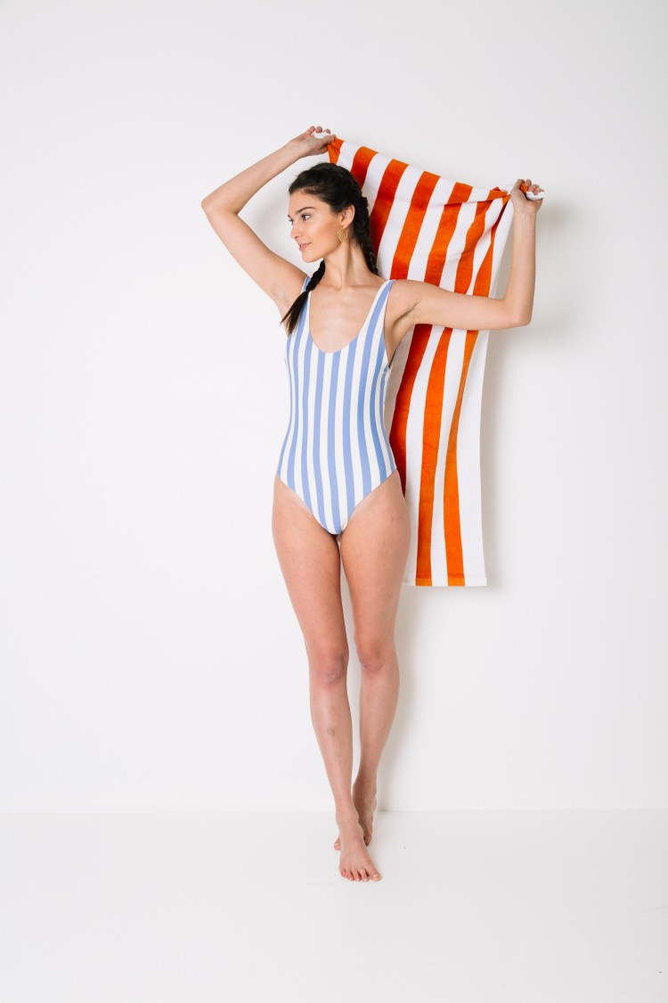 Striped One Piece Swimsuit From Buckle