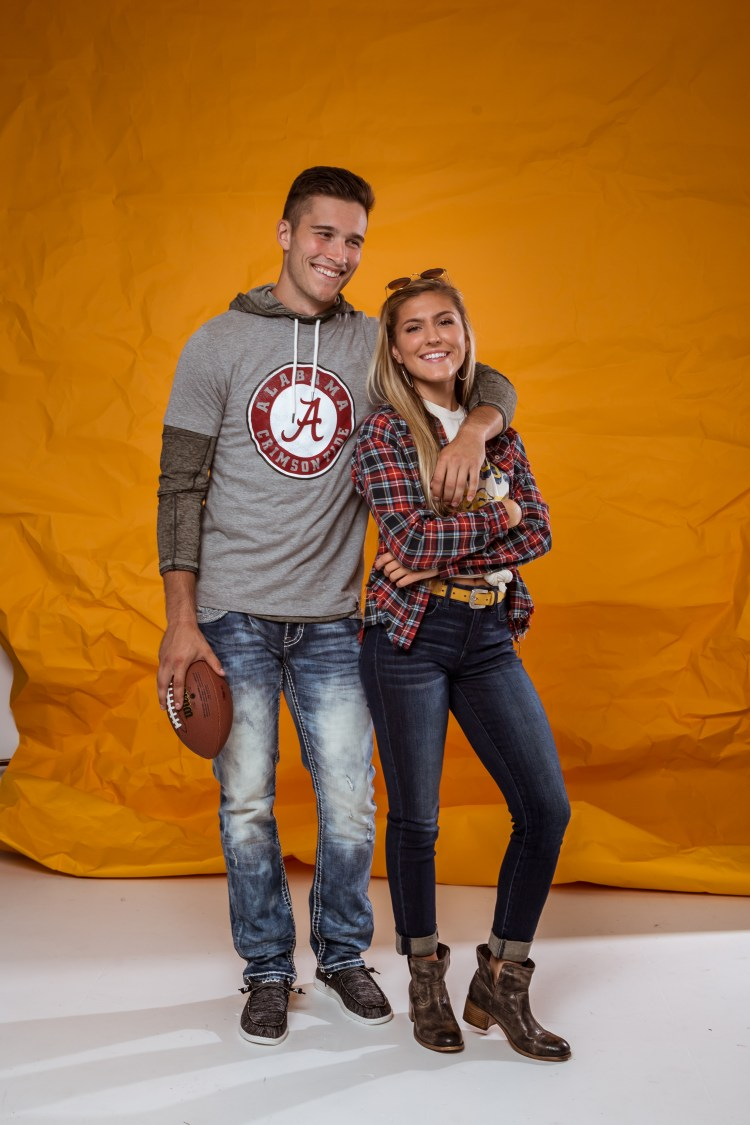 Whether cheering for the same team, or keeping it cordial across the sidelines, we love these looks for him/her.