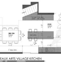build llc beaux arts village kitchen plan [ 1600 x 1259 Pixel ]