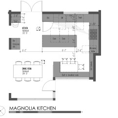 Kitchen Island Dimensions Tables For Small Kitchens 5 Modern Designs Principles Build Blog Llc Magnolia Plan