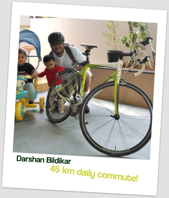 Darshan commutes 45 kms to work in Bangalore