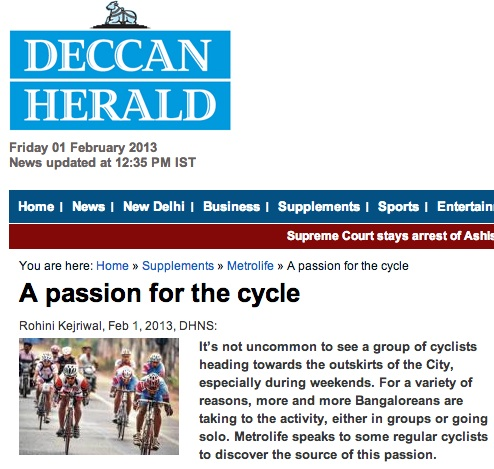 BumsOnTheSaddle in the news - Deccan Herald