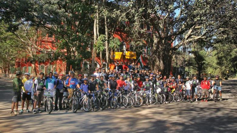 critical mass ride in  bangalore