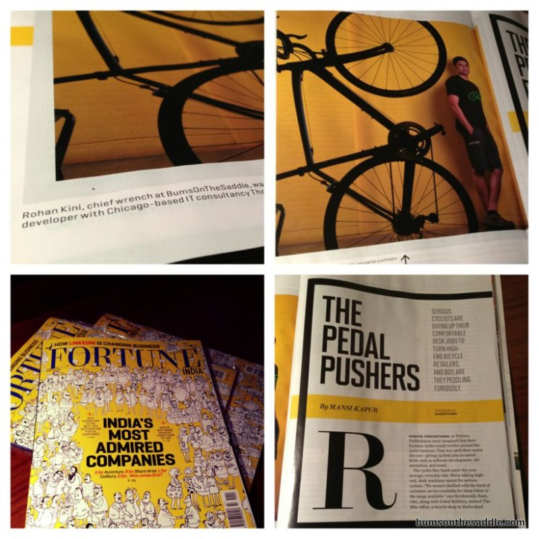 Fortune India - bumsonthesaddle in the news