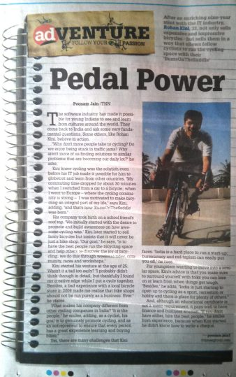 Rohan Kini for BumsOnTheSaddle in the times of India