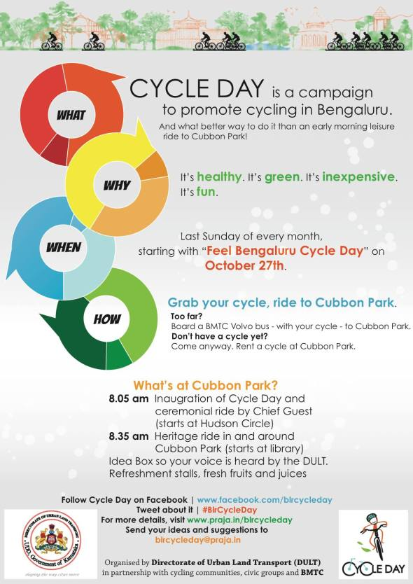 Promote bicycling in Bangalore city - Cycle Day in Bangalore