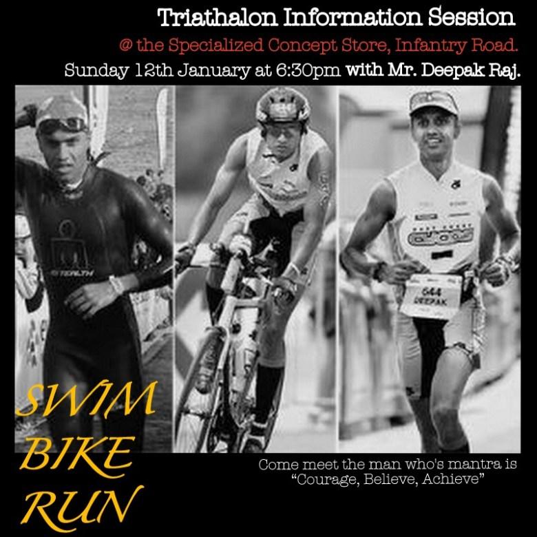 Bangalore triathlons - Deepak Raj