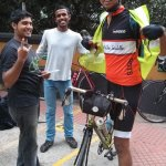 The BOTS boys - Adi, Murali and Somaskanda. Adi and Murali were out there to help bikers and Soma was riding the 1200Km brevet. Great job all!