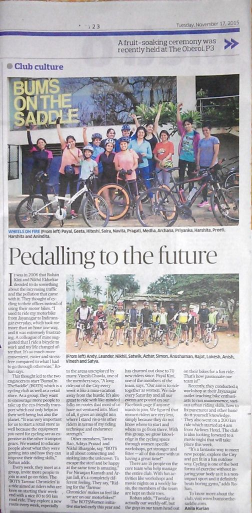 BUMSONTHESADDLE - pedalling to the future | Deccan Herald