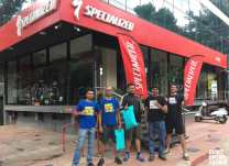 The best bicycle mechanics at the Specialized Concept Store providing road cycling event support from BUMSONTHESADDLE