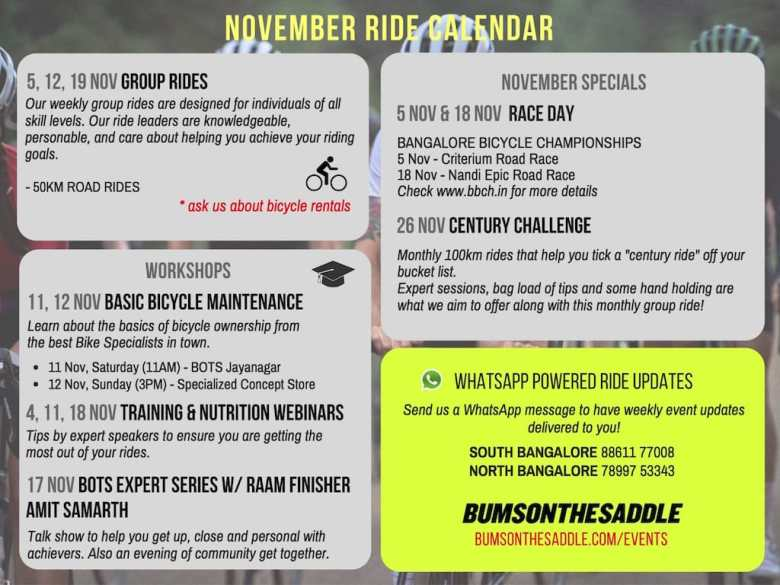 201711 - November Cycling Events in Bangalore copy