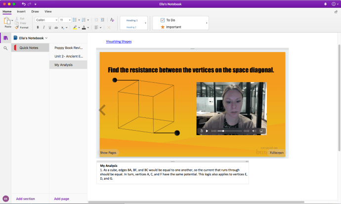 Embed Buncee into Microsoft OneNote - Example