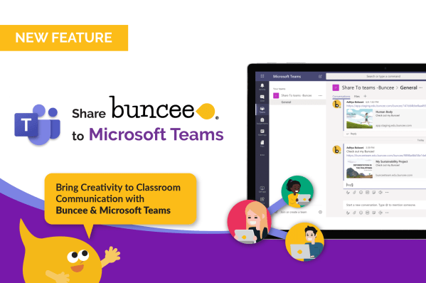 Share Buncee to Microsoft Teams