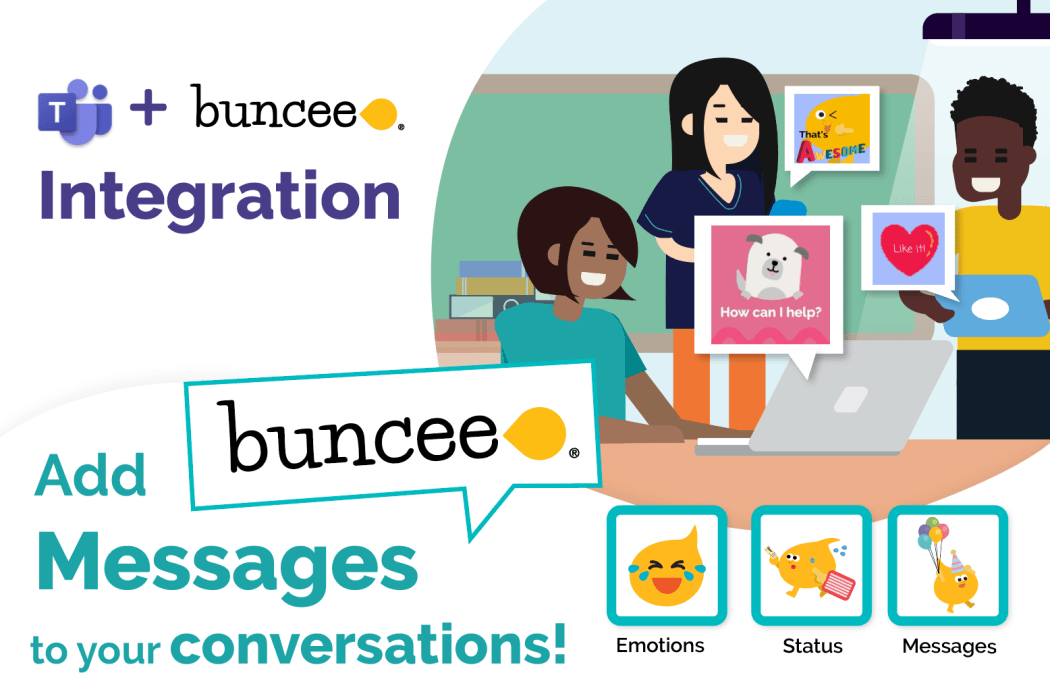 Announcement Graphic: Buncee Messages Integration with Microsoft Teams for Fun Classroom Communication