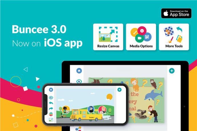 Buncee 3.0 now on iOS app