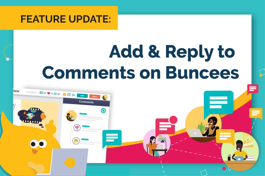 Add & Reply to Comments on Buncees