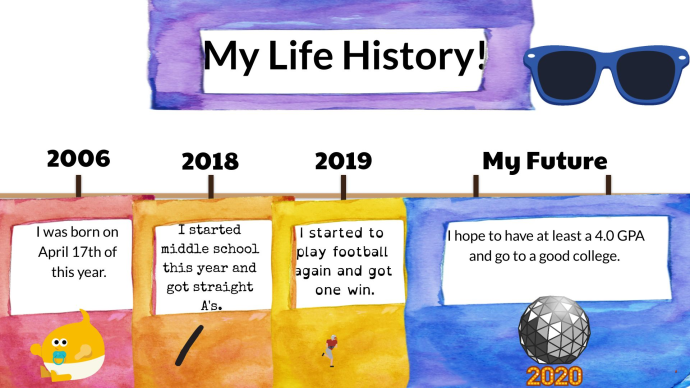 Student's Life History Timeline Buncee
