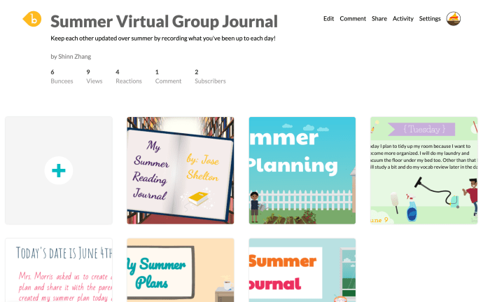 Connect with Peers Virtually with a Group Journal
