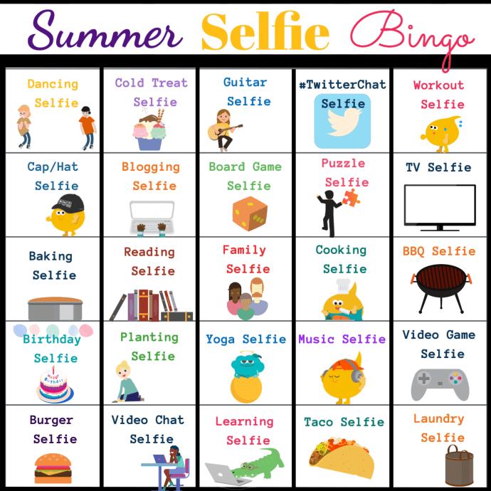 Summer Selfie Bingo