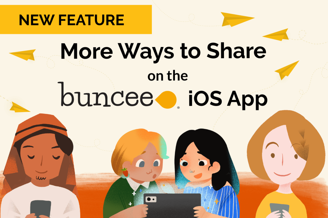 More ways to share on the Buncee iOS app