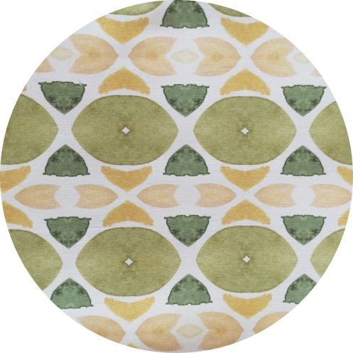 Vintage Green Modern Fabric by Bunglo