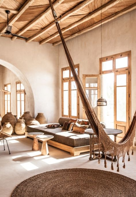Woven Baskets, Rugs, and Hammock