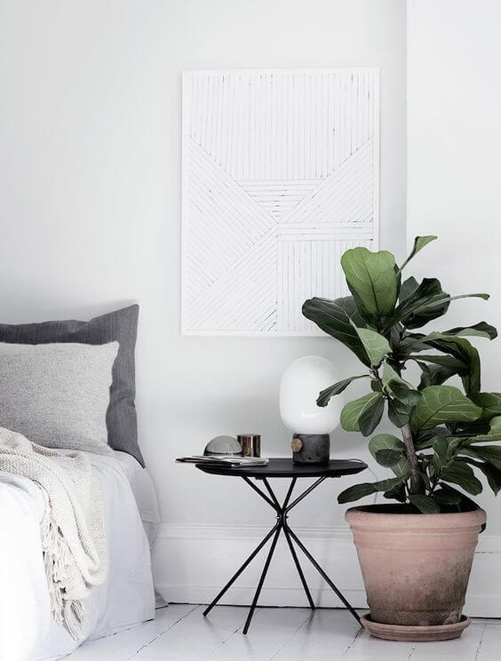 Greenery in a Bright Bedroom