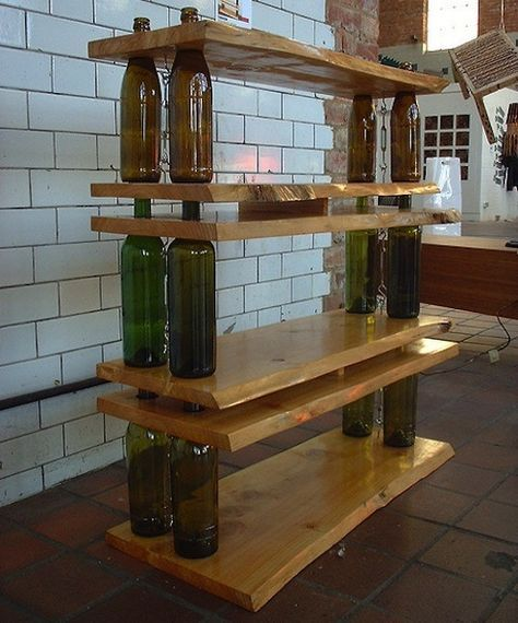 Simple Wine Bottle Shelf