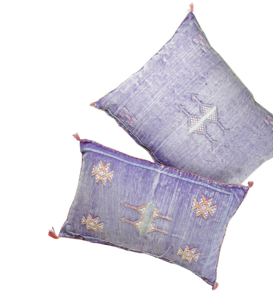 Violet Vintage Woven Pillows