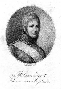 Tsar Alexander I. came to Löbichau in 1808.