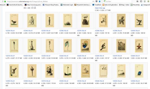 Die Sammlung Welker ist seit Frühjahr 2018 in hoher Auflösung und mit ausführlichen Infos frei nutzbar auf Wikimedia Commons zu finden.