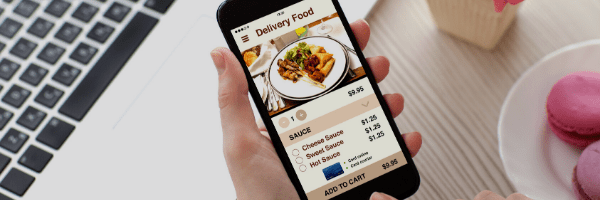 Phone app for food delivery